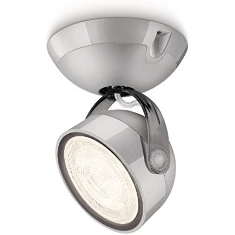 Philips myLiving Dyna - Foco de interior, LED, luz blanca cálida, 3 W, IP20, color gris