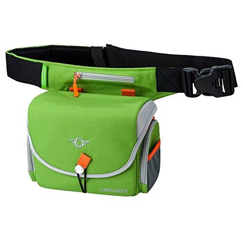 COSYSPEED Camslinger Outdoor Kameratasche mit Hüftgürtel für Systemkameras und kleine DSLR-Kameras grün