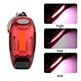 MMLC COB LED Key Ring Torch with Magnet, Keyring Torch Light, Batteries Include, Magnetic Pocket Flashlight with Carabiner, Portable and Mini Size, 3 Mode,4 Assorted Colors (Red)