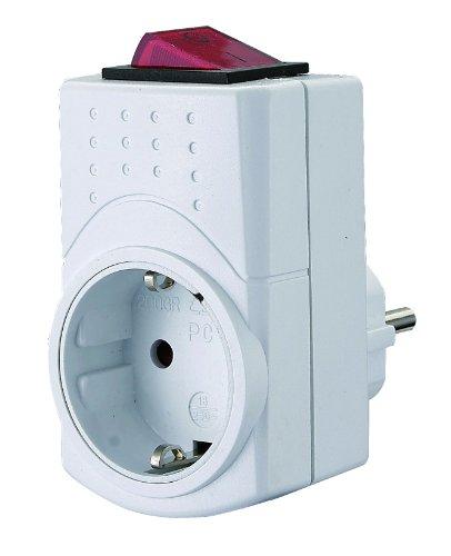 GAO EMP600SW-PP-G Zwischenstecker mit Schalter, 2-polig