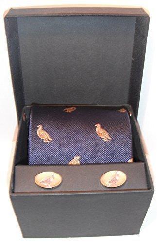 Soprano colore blu partridge per cravatte e