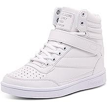 BAINASIQI Sneaker Donna Zeppa Interna Alte Scarpe da Ginnastica Casuale  Cuneo Piattaforma Catena Stivaletti Traspirante Scarpe e870f6073f0