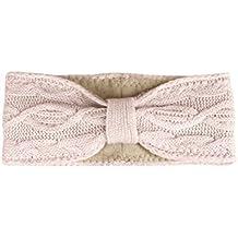 e4b0b1073c59a0 Zwillingsherz Stirnband mit Schleife und Kaschmir - Hochwertiges  Strick-Kopfband für Damen Frauen Mädchen -