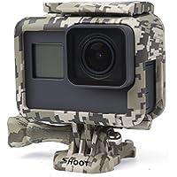 SHOOT Schutzrahmen Mount Gehäuse Case mit Schnellverschluss für GoPro Hero 7 Black/(2018)/6/5 Action Kamera (Wüste Grau)