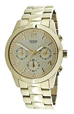 Guess Mini Spectrum W13552L1 de cuarzo, correa de acero inoxidable color oro