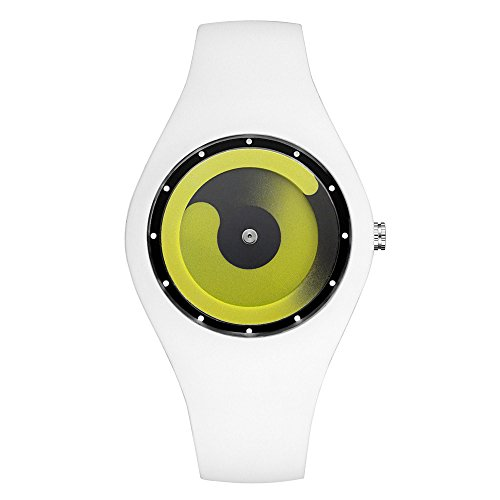 Kycut Bonbonfarbene Nicht - Zeiger Uhr Silikon Männer Frauen Mode Kreative Uhren