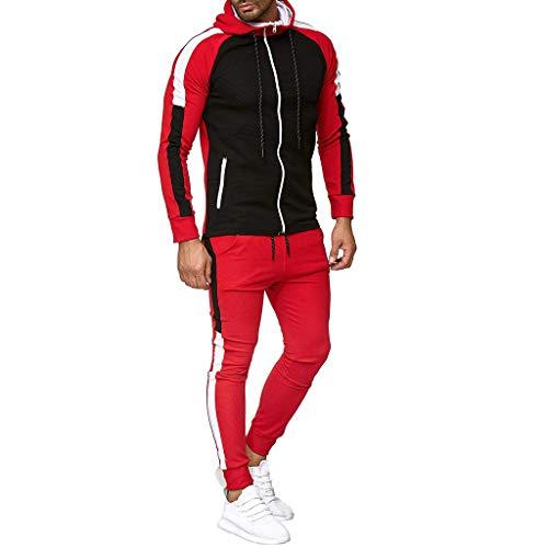 Sllowwa Herren Jogging Anzug Trainingsanzug Sportanzug Herbst Farbverlauf Reißverschluss drucken Sweatshirt Top Hosen Sets Sport Anzug Trainingsanzug