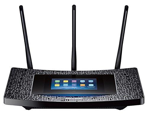 Foto TP-Link RE590T Ripetitore Wireless AC1900 Mbps, Touch Screen da 4.3 Pollici, Dual Band, Processore Dual Core 1 GHz, 3 Antenne Esterne, 4 Porte Gigabit