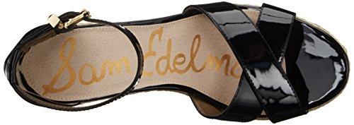 Sam Edelman Womens Brenda Espadrille Wedge Sandal Black Patent