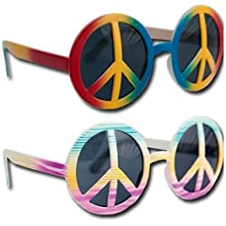 P 'tit payaso 40001 gafas plástico – Hippie – Peace and Love – , Multicolor