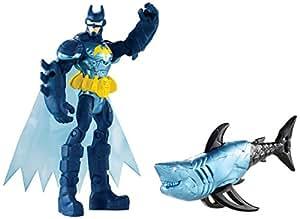 Mattel – Batman Unlimited – Batman & Requin – 1 Figurine + 1 Animal