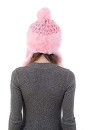 LETTER Sombrero y Bufanda Mujer Dama de Piel de imitación para Mujer ecff47f37d3