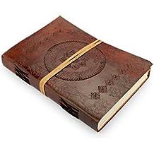 A.P. Donovan - Diario in pelle organizzatore - Diario rivista book - Planner Book - notebook orientale, notebook marrone A5