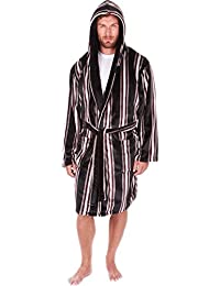 c5bbb69b7d Mens Hooded Dressing Gown Shawl Collar Luxury Nightwear Bathrobe Plus Size  New