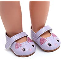 YUYOUG Doll Shoes Lovely Cartoon Sandals Shoes Fits 18 Inch Our Generation American Girl Doll Accessory Girls' Toy New
