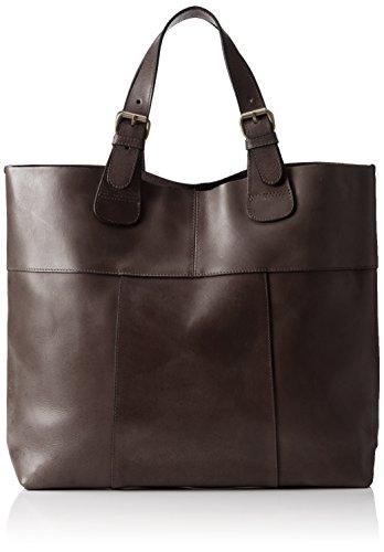 PIECES Pcbaysa Leather NET, Shopper Donna, Marrone (Mocca), 40x34x13 cm (B x H x T)