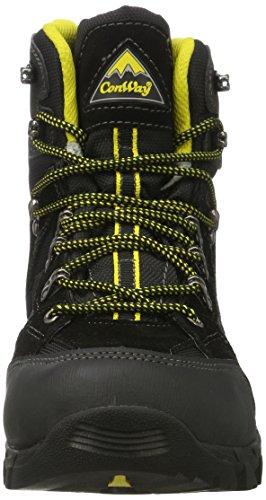 Conway 607417, Chaussures de Randonnée Hautes Homme Noir (Schwarz/gelb)