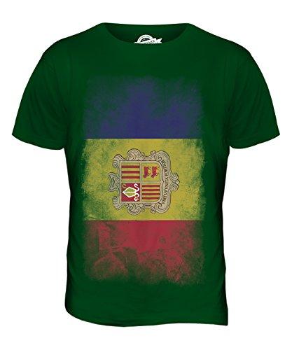 CandyMix Andorra Verblichen Flagge Herren T Shirt Flaschengrün