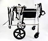 YSYW Verstellbarer Hundehaustier-Rollstuhl Hundegeschirr Mit Gurten Hinterbeine Rehabilitatio 2 Räder Hundewagen Räder (XL XXL),XXL
