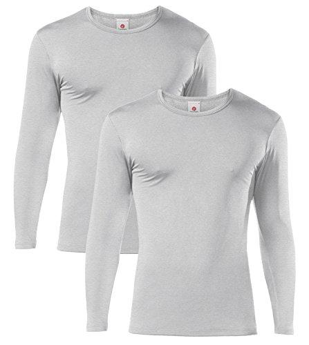 LAPASA Uomo T-Shirt Termica Pacco da 2 -Ti Tiene al Caldo Senza Stress- Intimo Maniche Lunghe...
