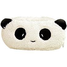 JUNGEN® Estuche de Lápiz Bolsa de Cosmético para niñas Caja de Lápiz de felpa adorable bolsas de papelería para estudiantes (Panda)