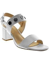 Angkorly Chaussure Mode Sandale Escarpin Lanière Cheville Femme Lanière  Clouté Talon ... 2d45fa461d07