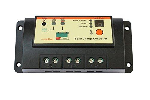 10A Duo Batterie Solar Laderegler Regler 12 V / 24 V Auto Arbeit für RV Wohnwagen und Boote Dual Batterie Solar Panel Ladesystem (10A Controller Only)