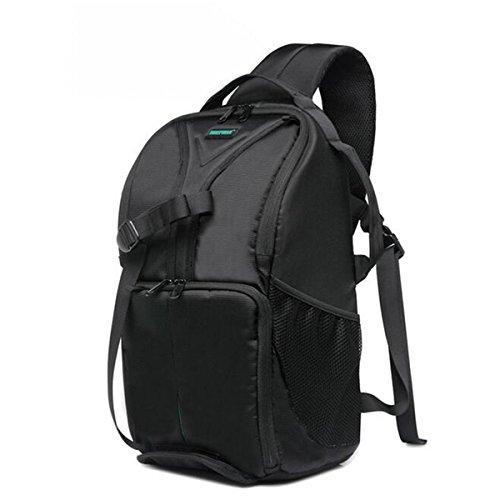 MASUNN Multifunktionaler, Wasserdichter Großraum-dreieckiger DSLR-Kameratasche Koffer Rucksack- Grün