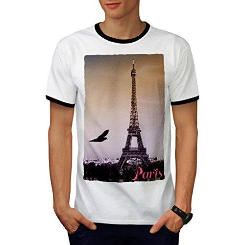 Paris Liebe Foto Mode Paris Frankreich Symbol Herren M Ringer T-shirt | (Männlich Frankreich Kostüm)