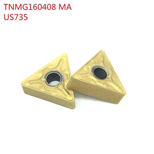 10pcs tnmg160408 ma us735 externe drehwerkzeuge schneiden fügt carbide einfädeln fügt fräsen fügt schneidwerkzeug cnc - dreher iools dreher - tools (Mini Drehbank-schneidwerkzeuge)