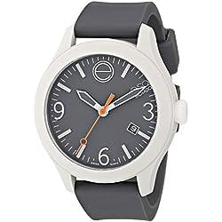 ESQ by Movado Women's 41mm Grey Silicone Band & Case Quartz Analog Watch 07101446