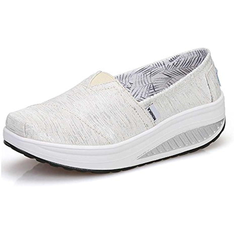 FangYOU1314 Mesdames Respirant Toile Shake Shoes PU Chaussures l'usure de Course résistant à l'usure Chaussures (Couleur : Blanc,... - B07H4P9YJT - 7f225b