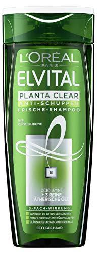 L\'Oréal Paris Elvital Planta Clear Anti-Schuppen Frische Shampoo für fettiges Haar, 6er Pack (6 x 250 ml)