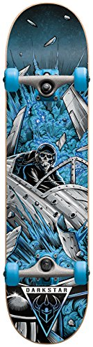 Darkstar Jet Fighter Skateboard für Erwachsene, Blau