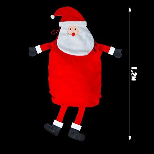 Sacco regalo gigante a forma di babbo natale, con gambe e braccia, da 1,2m