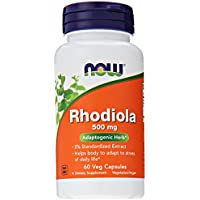 NOW Foods Rhodiola Rhodiola Rosea, 60 Capsules / 500mg (Pack of 2)