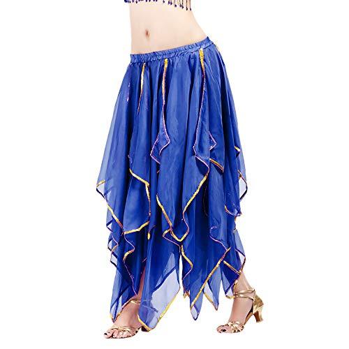 Chiffon Bauchtanz Rock Orientalische Kostüme Damen Seitennaht