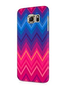 Cover Affair Pattern Printed Designer Slim Light Weight Back Cover Case for Samsung Galaxy S6 (Pink & Blue)