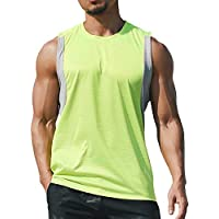 KJK Men's Tank Top Quick Dry Sleeveless Breathable Training Running/Gym/Workout Tank Vest Singlet