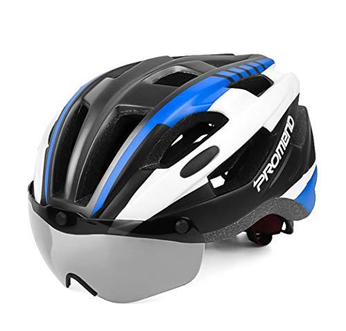 XRPXRP Fahrradhelm ☢ Skaterhelm ☢ Fahrradhelm ☢ Herren | Damen | Jungs Schutzbrille Reithelm Brille blau schwarz