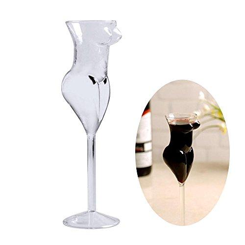 Aolvo Creative Sexy Lady Body Weingläser Tasse, Getränk/Cocktail-/Whisky-Glas für Männer mit Custom-Design, Bachelorette Party-Getränke, lustig, Deko-Bild