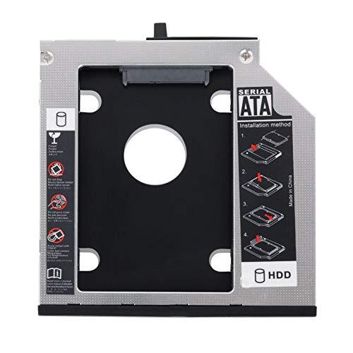SHINESTAR 2nd HDD SSD Festplatten-Caddy Tray Ersatz für Lenovo Thinkpad T400 T400s T410 T410s T420s T430s T500 W500, interner Laptop CD/DVD-ROM optischer Modular Bay Adapter auf 2,5 Zoll 9,5 mm