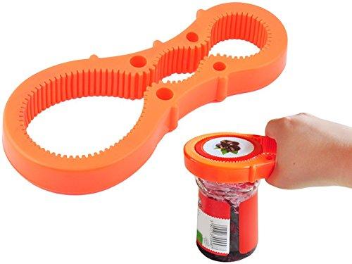 OUVRE-BOCAL o 3 ouvertures circulaires o ouvre-bocal en caoutchouc o s'adapte parfaitement à la forme de bocal o souple o facile à nettoyer o lavable au lave-vaisselle o #2562