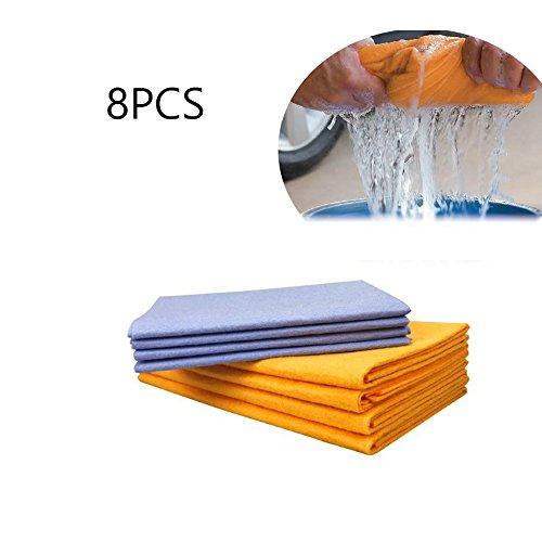 Shamwow, 8 panni per la pulizia, assorbenti e ad alta efficienza, per il lavaggio di piatti, cucina, bagno, finestre, auto e animali domestici