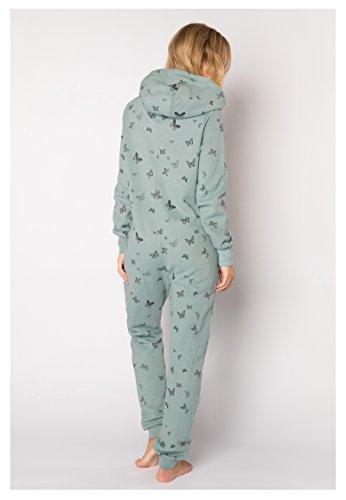 Eight2Nine Damen Sweat Overall | Kuscheliger Jumpsuit | Einteiler aus bequemen Sweat-Material einfarbig Turquoise S/M - 5