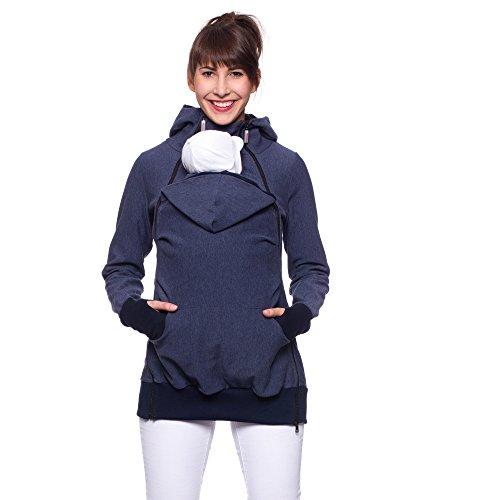 """Milchshake - 3in1 Tragejacke, Tragepullver aus elastischem Sweatstoff - """"Feris active"""" - jeansblau - S"""