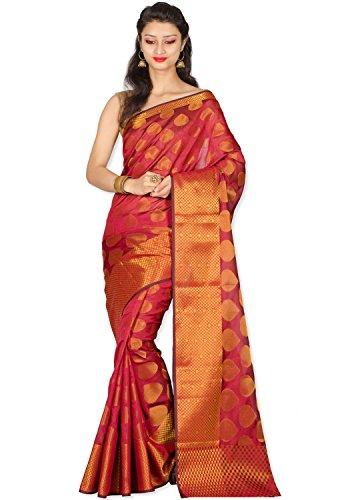Chandrakala Red Banarasi Art Silk Saree