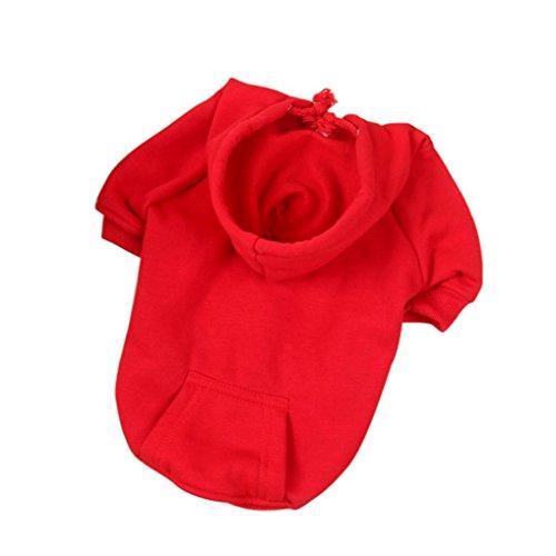 Dickes Haustier Kapuzenpullover, Hmeng Warme Hund Kleidung Welpen Kapuzenpulli Pullover für Herbst Winter (S, (Kostüme Mädchen Niedrigen Halloween Preis)