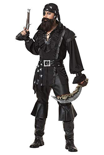 Tollstore Herren Piraten Kostüm Buccaneer Seeräube Piraten-Outfit Halloween Fasching Kostüm - Kostüm Pirat Herren