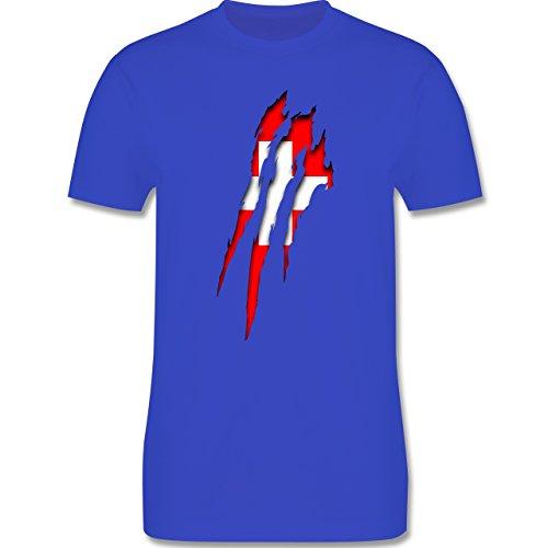 Länder - Schweiz Krallenspuren - Herren Premium T-Shirt Royalblau